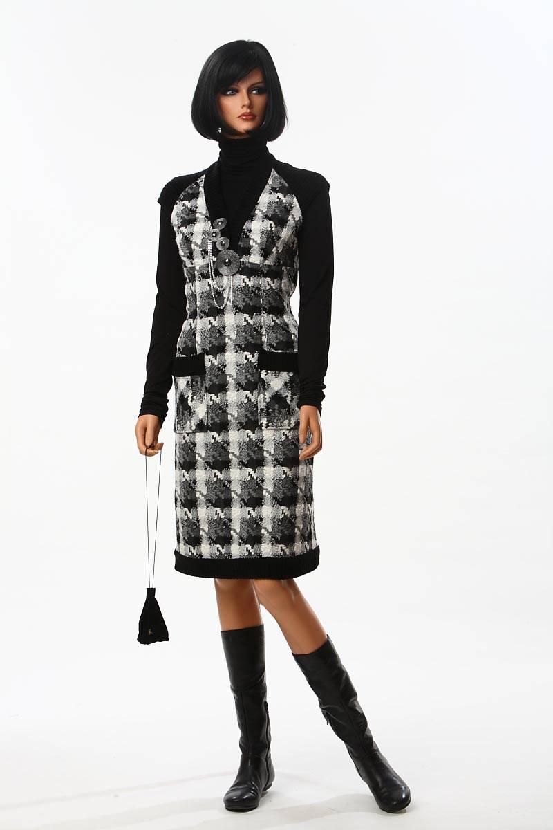Теплый сарафан девочке. Модно носим